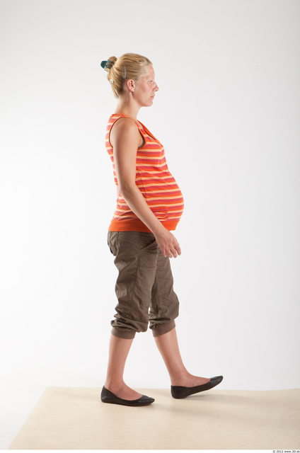 Whole Body Woman Animation references White Casual Pregnant