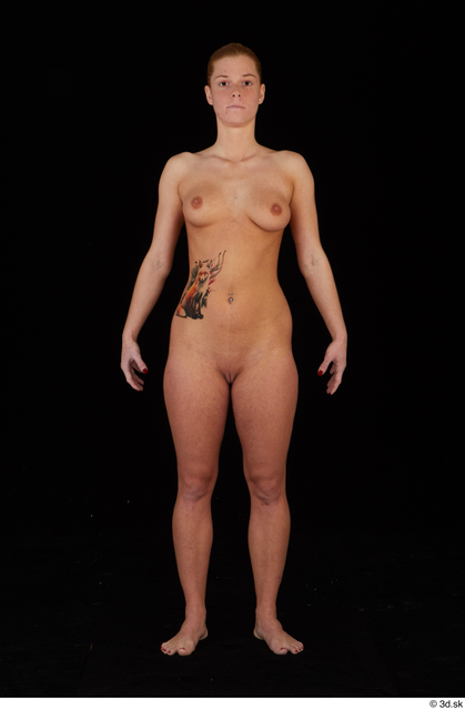 Whole Body Woman Nude Slim Standing