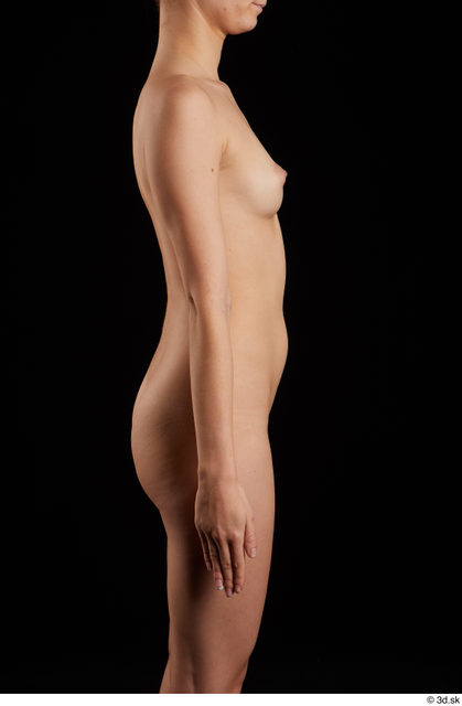 Arm Woman Nude Slim Studio photo references