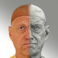 Raw 3D head scan of irate emotion - Jan