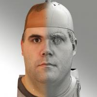 3D head scan of neutral emotion - Martin