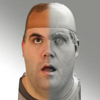 3D head scan of looking up emotion - Martin