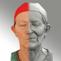 3D head scan of sneer emotion left - Maria