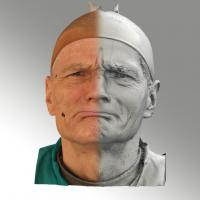 3D head scan of angry emotion - Zdenek