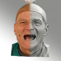 3D head scan of smiling emotion - Zdenek