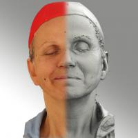 3D head scan of sneer emotion right - Renata