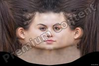 Young woman head premade texture 0009