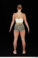 Chrissy Fox leopard shorts standing white tank top whole body 0005.jpg