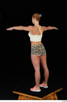 Chrissy Fox leopard shorts standing t-pose white tank top whole body 0004.jpg