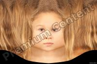 Young girl head premade texture 0008
