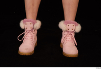 Cayla Lyons foot pink winter shoes 0001.jpg