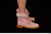 Cayla Lyons foot pink winter shoes 0007.jpg