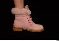 Cayla Lyons foot pink winter shoes 0009.jpg