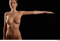 Shenika  1 arm flexing frontview nude 0003.jpg