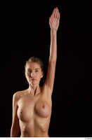 Shenika  1 arm flexing frontview nude 0005.jpg