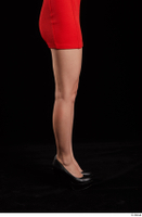 Kyoko  1 arm flexing red dress side view 0006.jpg