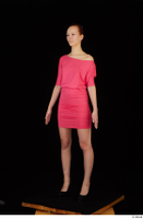 Kyoko clothing pink dress standing whole body 0002.jpg