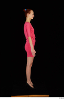 Kyoko clothing pink dress standing whole body 0007.jpg