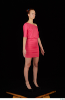 Kyoko clothing pink dress standing whole body 0008.jpg