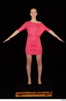 Kyoko clothing pink dress standing whole body 0009.jpg