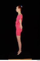 Kyoko clothing pink dress standing whole body 0011.jpg