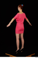Kyoko clothing pink dress standing whole body 0012.jpg