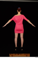 Kyoko clothing pink dress standing whole body 0013.jpg