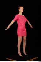 Kyoko clothing pink dress standing whole body 0016.jpg