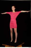 Kyoko clothing pink dress standing whole body 0018.jpg