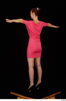 Kyoko clothing pink dress standing whole body 0020.jpg