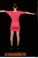 Kyoko clothing pink dress standing whole body 0021.jpg