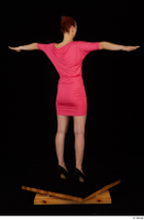 Kyoko clothing pink dress standing whole body 0022.jpg