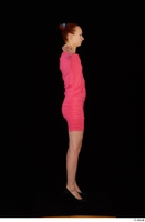 Kyoko clothing pink dress standing whole body 0023.jpg