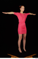 Kyoko clothing pink dress standing whole body 0024.jpg