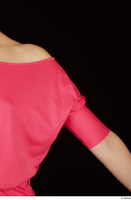 Kyoko clothing pink dress standing whole body 0027.jpg