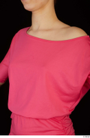 Kyoko clothing pink dress standing whole body 0028.jpg