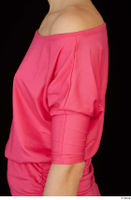 Kyoko clothing pink dress standing whole body 0029.jpg