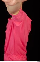 Kyoko clothing pink dress standing whole body 0030.jpg