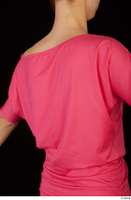 Kyoko clothing pink dress standing whole body 0035.jpg