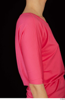 Kyoko clothing pink dress standing whole body 0036.jpg
