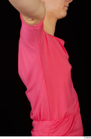 Kyoko clothing pink dress standing whole body 0037.jpg