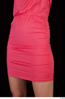 Kyoko clothing pink dress standing whole body 0040.jpg
