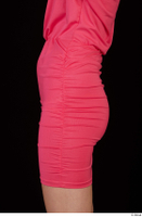 Kyoko clothing pink dress standing whole body 0041.jpg