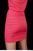 Kyoko clothing pink dress standing whole body 0042.jpg