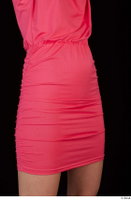 Kyoko clothing pink dress standing whole body 0046.jpg