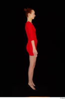 Kyoko clothing red dress standing whole body 0007.jpg