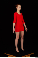 Kyoko clothing red dress standing whole body 0008.jpg