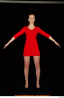 Kyoko clothing red dress standing whole body 0009.jpg