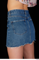 Lady Dee blue jeans skirt hips 0004.jpg