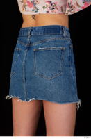 Lady Dee blue jeans skirt hips 0006.jpg